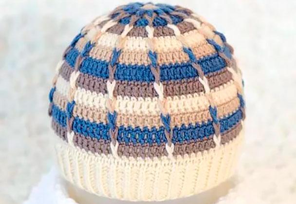 как научиться вязать шапку и шарф для мужчины при помощи крючка