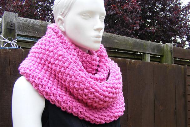 как вязать шарф снуд крючком для начинающих